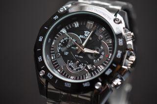 Faiberspace Chronouhr Chrono Herrenuhr Uhr Schwarz Silber Metallarmband Stahl Bild