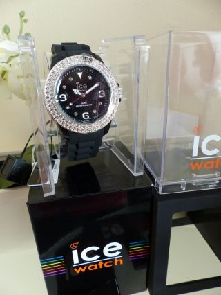 Ice Watch Quarzuhr Ice - Star Big Mit Swarovski Elements Mit Karton Schwarz Bild