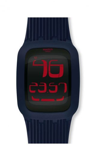 Swatch Touch Darkblue Dunkelblau Surn101 & Ovp Bild