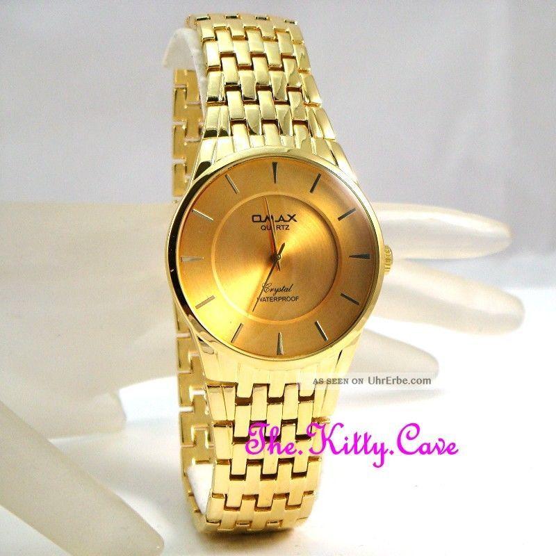 Omax Designer Wasserdichte Seiko Uhrwerk Vergoldete Herren Uhr Hbc183 Armbanduhren Bild