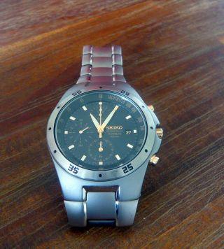 Seiko Herren Armbanduhr Chronograph Titan Snd451p1 M.  Rechn. Bild