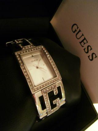 Guess Watch Armbanduhr - Rechteckig - Zirkonia - Silber - Farben – Ovp Bild