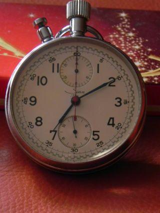 Taschenuhr Rattrapante Chronograph Sinn Lemania 1130 Swiss Made Bild