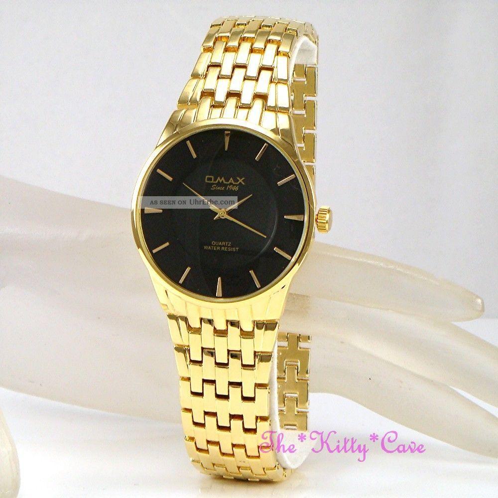 Omax Designer Herren Uhr Swiss Seiko Uhrwerk Wasserdicht Stahl Vergoldet Armbanduhren Bild