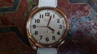 Intenz Herren Armbanduhr Weißes Lederarmband Große Ziffern Datum Bild
