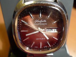 Glashütte Gub Armbanduhr Spezichron 22 Rubis Automatik Ehrengeschenk Der Sed Ddr Bild