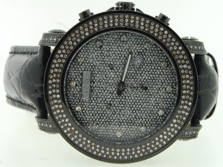 Uhr Männer Joe Rodeo/jojino Schwarz Platin Diamant Grau Ziffernblatt 2.  50 Ct Bild