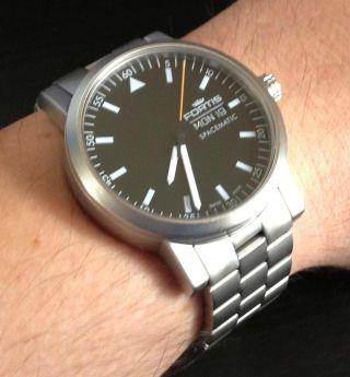 Fortis Spacematic - Automatik - Uhr (keine Eco - Quarz) Mit Glasboden In Ovp Bild