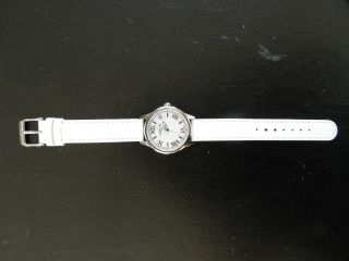 Wempe Armbanduhr,  Damen,  Weiß,  Echtes Lederarmband,  Quarz Uhr,  34mm Bild