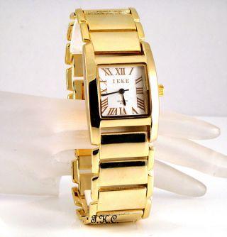 Retro Designer Armbanduhr Vergoldet Klassische Herrenuhr Bild