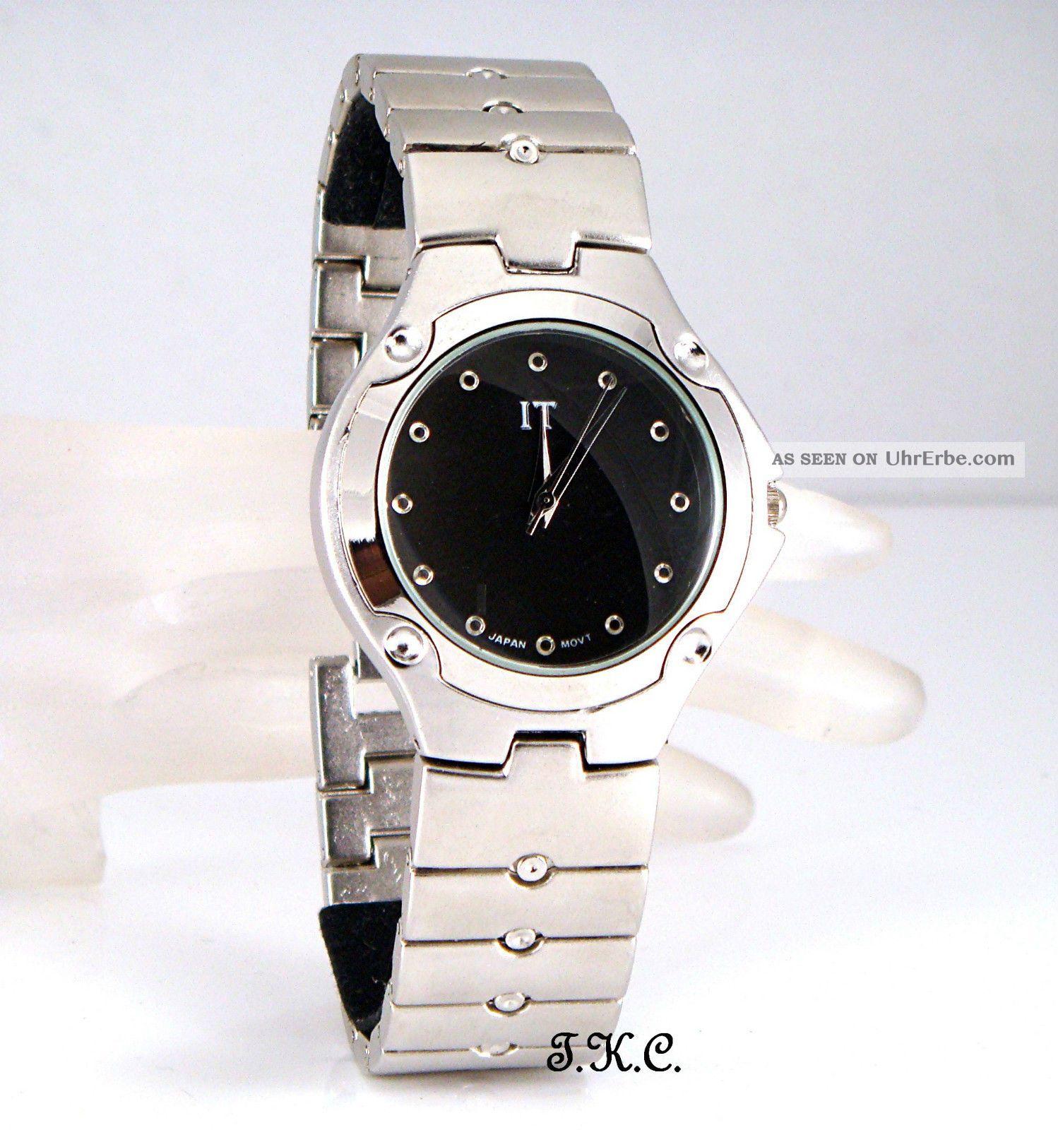 Herren Armbanduhr Gents Retro Classic Matt Silber Schwartz Farbe,  Japan Movt Armbanduhren Bild