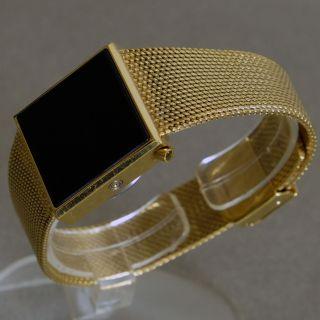 Artdeco,  Vintage,  Square,  No - Name Led Watch.  Goldfarbes Gehäuse/milaneseband Bild