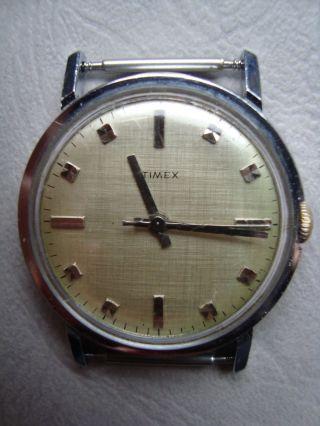 Timex Armbanduhr Handaufzug Vintage Ca.  60er Oder 70er Klassisch Bild