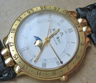 Luxusuhren Mondphase Herren Maurice Lacroix Luxus Vollkalender Kalenderuhr Datum Bild