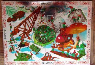 Swatch - Weihnachtskalender Mit Uhr Gz900 Season Greeting Limitiert Bild