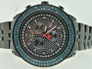 Herren Armbanduhr Joe Rodeo Jojino 2 Reihen Blau 6.  50k Diamant Bild