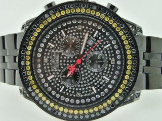 Herren Joe Rodeo Jojino Gelb 6.  5c Diamant Schwarz Armbanduhr Bild