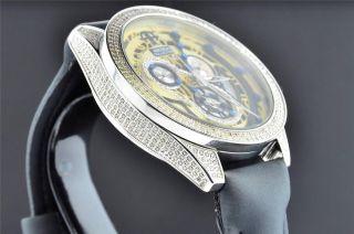 Artica Diamant Uhr Schwarz & Gelb Zifferblatt 2 Zeilen Lünette 3,  5 Ct Datum Bild
