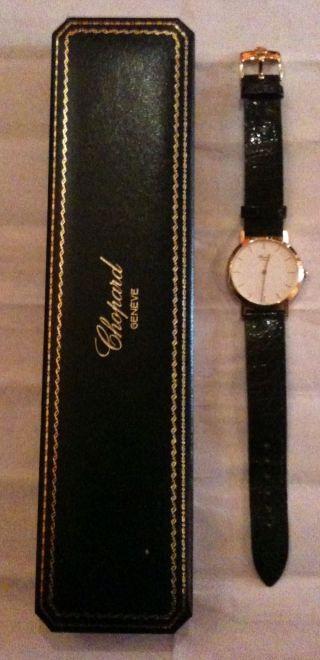 Chopard Geneve Herren Armbanduhr 750 Gold Neuwertig Limitierte Auflage Bild