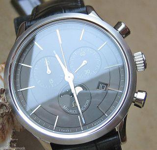 Luxusuhren Chrono Luxus Uhr Chronograph Maurice Lacroix Herrenuhr Mondphase Hau Bild