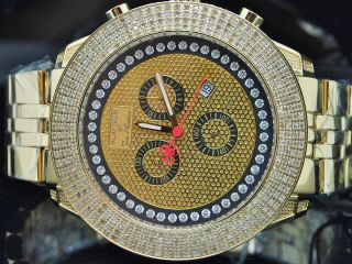 Herren Armbanduhr Joe Rodeo 3 Reihen 3,  4kt Diamant Täuschung Zifferblatt Uhr Bild