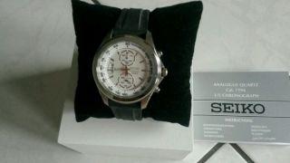 Seiko Armbanduhr Chronograph. Bild