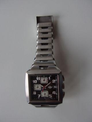 Adidas Sportuhr (chronograph) Csc 3500 Mit Faltschliese Und Box Im Retro - Style Bild
