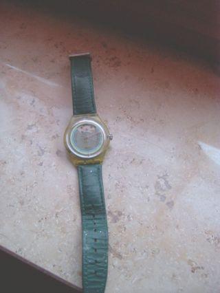 Swatch Damenuhr Automatic In Grün,  Teilskelettiert S.  Bild Bild