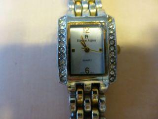 Aigner Damen Armband Uhr,  Gold/silber Armband Muster Und Swarowski Steine ? Bild