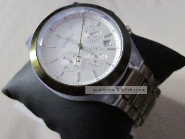Dkny Ny8286 Uhr Chronograph Watch Aluminium Damen Ladies Armbanduhren Bild