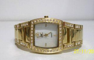 Glieder - Damen Armbanduhr,  Goldfarben,  Damenuhr,  Quarzuhr,  Marke Mc,  Ungetragen Bild