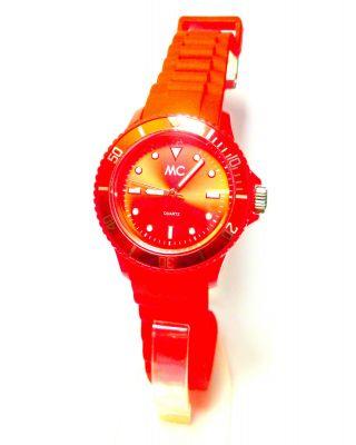 Mc Uhr Timetrend Rot 27368 Kautschukarmband Quarz Bild