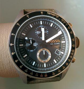 Fossil Armbanduhr Chronograph Bronze Oliv Vintage De 5017,  Wie Bild