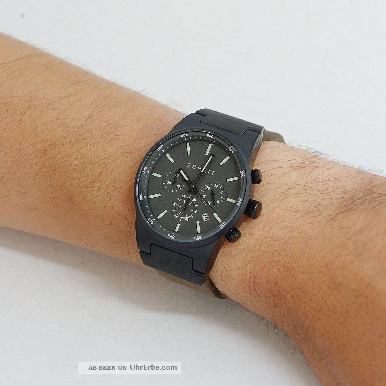 esprit uhr equalizer outdoor herren chronograph chrono. Black Bedroom Furniture Sets. Home Design Ideas