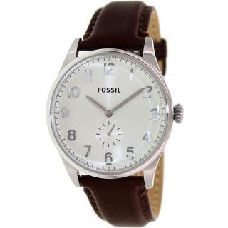 Orig.  Fossil Fs4851 The Agent Herren Armbanduhr Uhr Echtes Leder Braun Bild