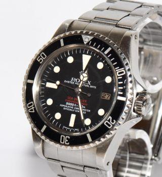 Rolex Sea - Dweller Doppelrot Rotschrift Ref.  1665 Stahl Uhr Ca.  1978 Bild