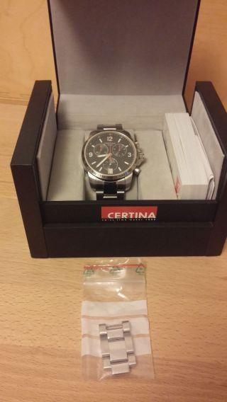 Certina Ds Podium Quarz Herren Chronograph,  Kasten,  Garantiekarte,  Rechnung Bild