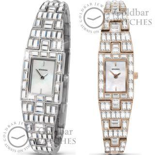 Armbanduhr Damen Sekonda Kristall Analoguhr Weißes Ziffernblatt Bild
