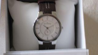 Skagen Steel Armbanduhr Stahl Braun Lederarmband 433 Lsl1 Zifferblatt Rund Bild
