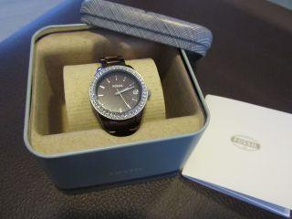 Fossil Uhr Damenuhr Armbanduhr Stella Mini Braun Aluminum Es2963 5 Atm Bild