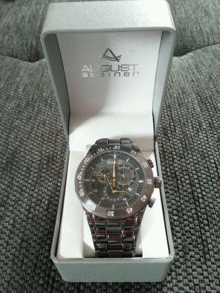 August Steiner Modell As8083bk Armbanduhr Herren Bild