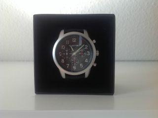 Panton Thiele Schwarzer Chronograph Armbanduhr Inkl.  Lederarmband Bild