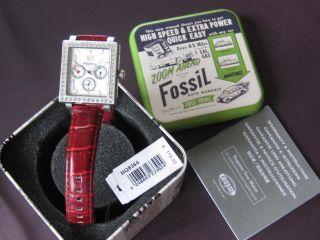 Fossil Damen Uhr Mit Lederarmband In Weinrot Bild