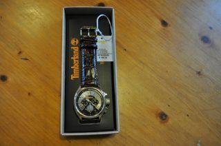 Timberland Chronograph Qt5122103 Herrenuhr Lederarmband Ovp Selten Bild