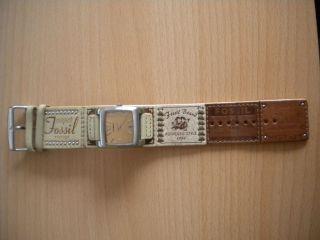 Damen Fossil Armbanduhr Mit Lederband.  Weihnachtsgeschenk Bild