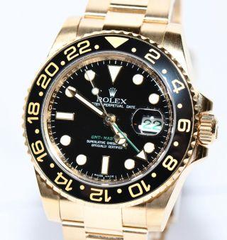 Rolex Gmt Master Ii Gold Uhr Keramik 116718 Box 2008 Bild