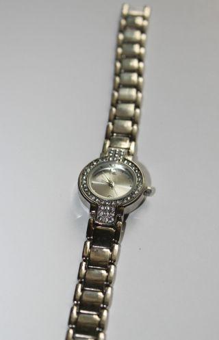 Armbanduhr Silber Zirkonia Rund Weihnachtsgeschenk Bild