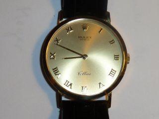 Rolex Cellini 750 Gold Handaufzug Mit Band Und Schließe 750 Bild