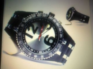 Herrenarmbanduhr Silber/schwarz Xxl Flieger Design Retro Fashion Look Bild