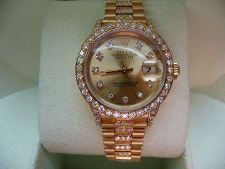 Rolex Lady Datejust - Ref.  69178 - 18 K 750 Gelbgold - Halbbesatz Mit Brillanten Bild